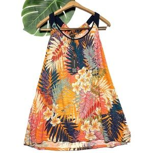 New Cable & Gauge Tropical Tank Top Blouse